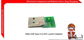 Male USB Type A to DIP 2.54mm Adapter
