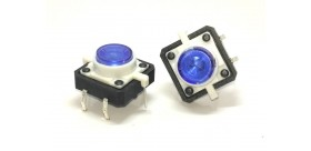 Micro Switch 12x12mm W/ Blue Led