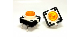 Micro Switch 12x12mm W/ Orange LED