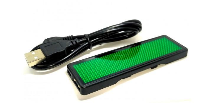 LED Name Badge-Hijau