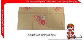 AKRILIK 3MM BENING 15X30CM