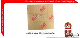AKRILIK 3MM BENING 60X60CM