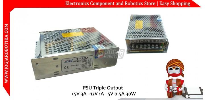 PSU Triple Output +5V 3A +12V 1A -5V 0.5A 30W