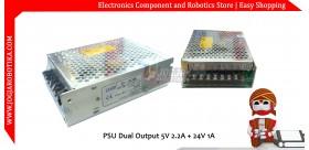 PSU Dual Output 5V 2.2A + 24V 1A