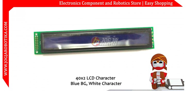 40x2 LCD Character Blue BG White Character