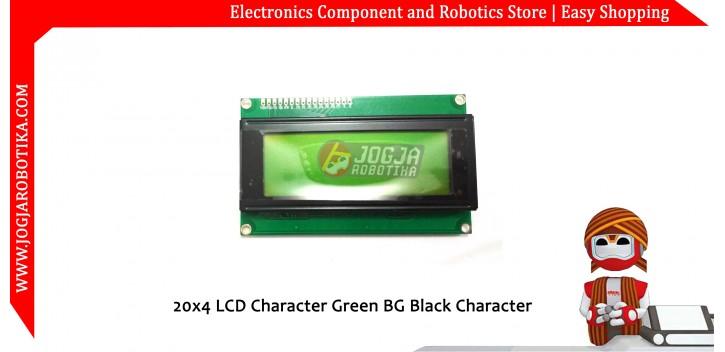 20x4 LCD Character Green BG Black Character