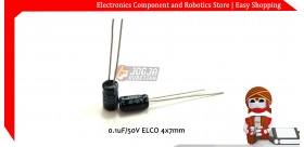 0.1uF/50V ELCO 4x7mm