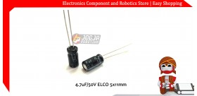 4.7uF/50V ELCO 5x11mm
