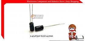 0.47uF/50V ELCO 4x7mm