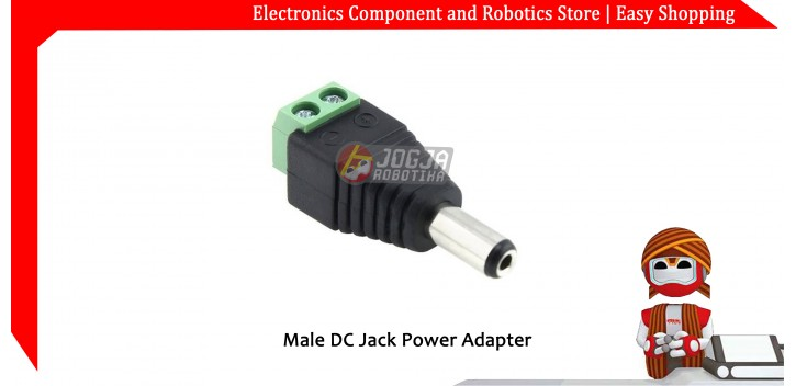 Male DC Jack Power Adapter