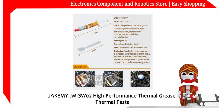 JAKEMY JM-SW02 High Performance Thermal Grease Thermal Pasta