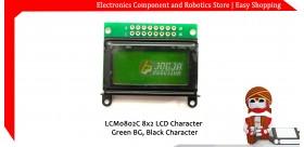 LCM0802C 8x2 LCD Character Breen BG Black Character