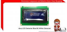 16x4 LCD Character Blue BG White Character