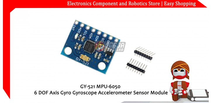 MPU-6050 6 DOF Axis Gyro Gyroscope Accelerometer Sensor Module