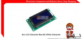 8x2 LCD Character Blue BG White Character
