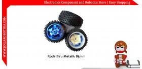 Roda Biru Metalik 85mm