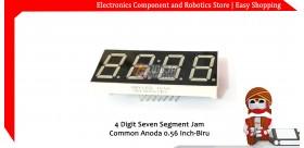 4 Digit Seven Segment Jam Common Anoda 0.56 Inch-Biru