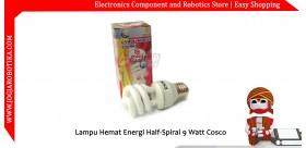 Lampu Hemat Energi Half-Spiral 9 Watt COSCO
