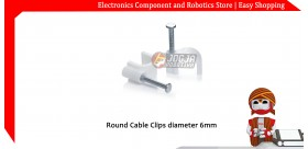 Round Cable Clips diameter 6mm