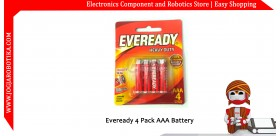 Eveready 4 Pack AAA Battery