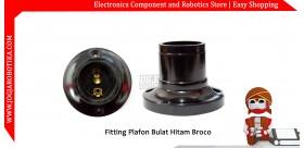 Fitting Plafon Bulat Hitam Broco
