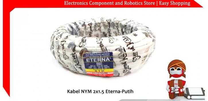 Kabel NYM 2x1.5 Eterna-Putih