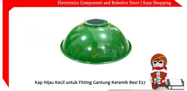 Kap Hijau Kecil untuk Fitting Gantung Keramik Besi E27