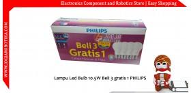 Lampu Led Bulb 10.5W Beli 3 gratis 1 PHILIPS