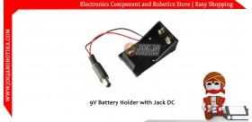 9V Battery Holder with Jack DC
