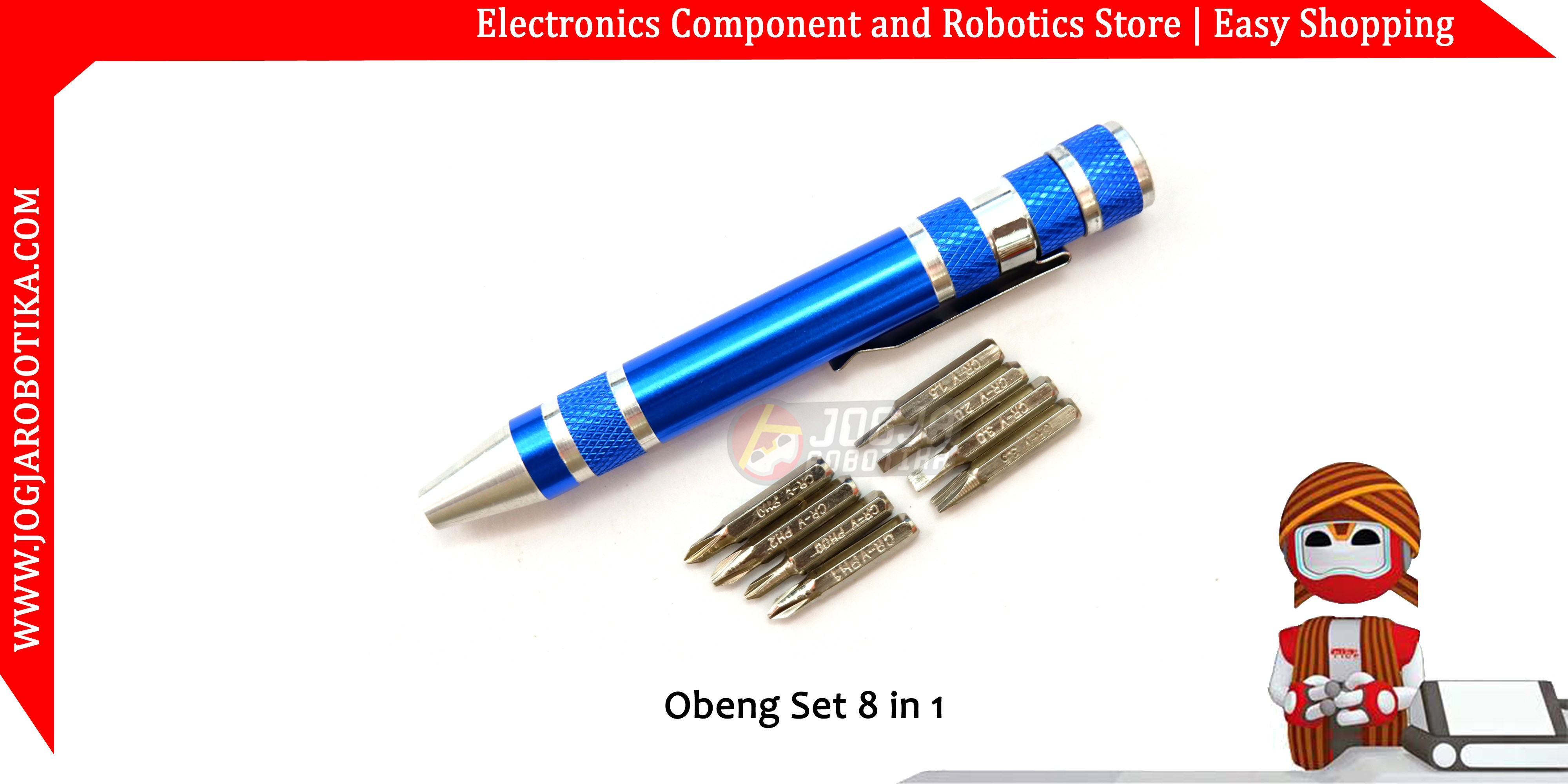 Obeng Set 8 In 1 Toko Komponen Elektronik Listrik Led Dan Robotika Jakemy Jm 8101 33 Precision Screwdriver Repair Tool Kit