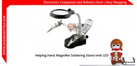 Helping Hand Magnifier Soldering Stand with LED