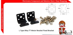 L Type Alloy TT Motor Bracket Fixed Bracket