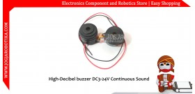 High-Decibel Buzzer DC3-24V Continuous Sound