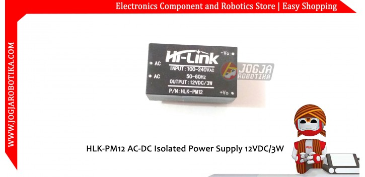 HLK-PM12 AC-DC Isolated Power Supply 12VDC/3W