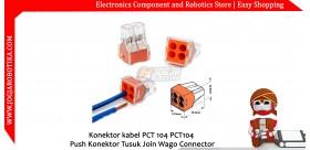 Konektor kabel PCT 104 PCT104 Push Konektor Tusuk Join Wago Connector