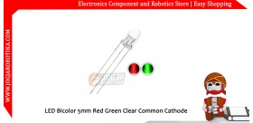 LED Bicolor 5mm Red Green Clear Common Cathode