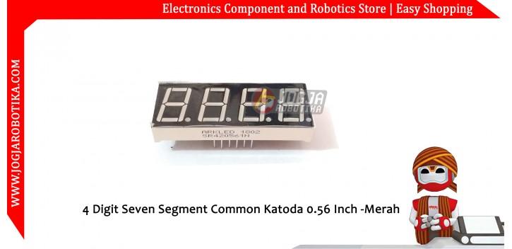 4 Digit Seven Segment Common Katoda 0.56 Inch -Merah