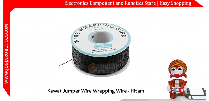 Kawat Jumper Wire Wrapping Wire 30AWG 250m - Hitam