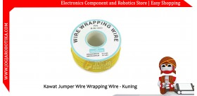 Kawat Jumper Wire Wrapping Wire 30AWG 1 Roll - Kuning