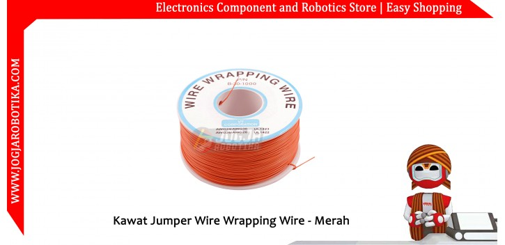 Kawat Jumper Wire Wrapping Wire 30AWG 1 Roll - Merah