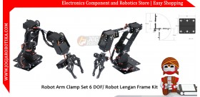 Robot Arm Clamp Set 6 DOF/ Robot Lengan Frame Kit