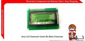 16x4 LCD Character Green BG Black Character