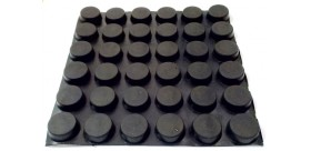 Kaki Karet 19x16x7.2mm Rubber Feet Pads Sticky Silicone Shock Absorber Black