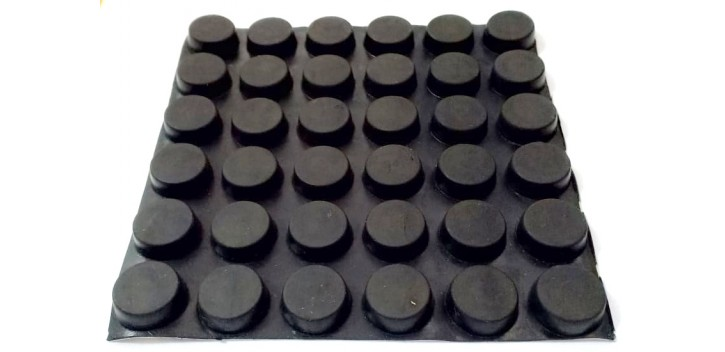 Kaki Karet 19x16x7.2mm Rubber Feet Pads Sticky Silicone Shock Absorber Black