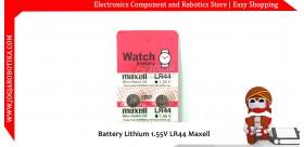 Battery Lithium 1.55V LR44 Maxell