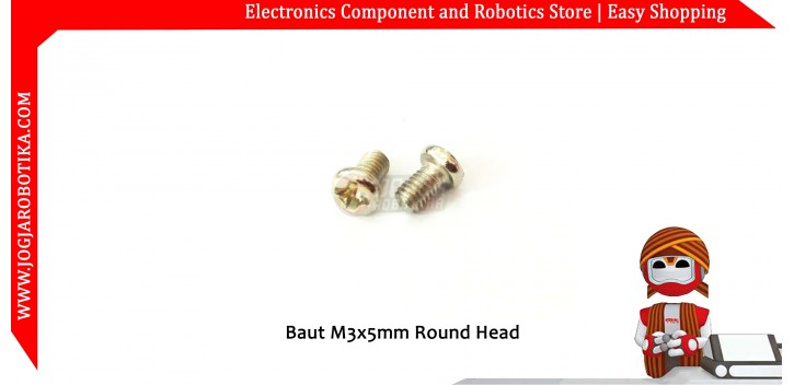 Baut M3x5mm Round Head