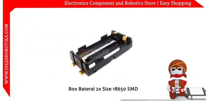 Box Baterai 2x Size 18650 SMD