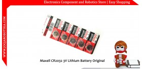 Maxell CR2032 3V Lithium Battery Original Made in Japan