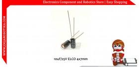 10uF/25V ELCO 4x7mm