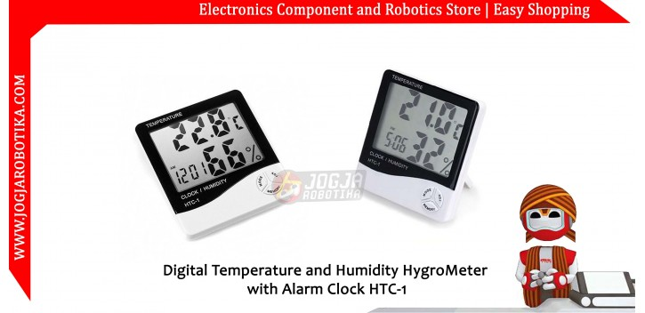 Digital Temperature and Humidity HygroMeter with Alarm Clock HTC-1